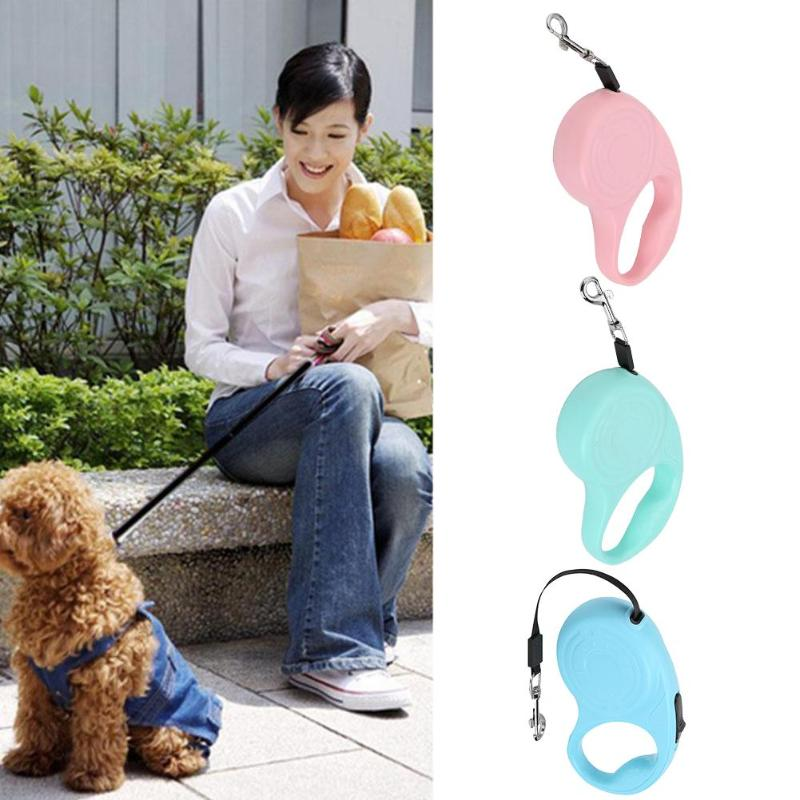 3m 5m Adjustable Automatic Retractable Leash Training Puppy Extending Traction Rope Dog Puppy Cat Collar Belt Walking Leads