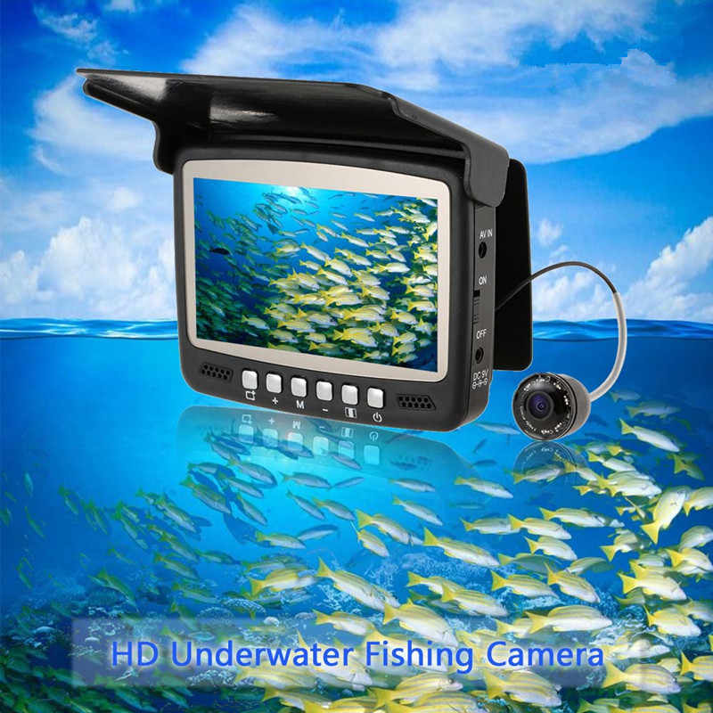 Fish Camera Fish Finder Underwater Ice Video Fishfinder Fishing Camera IR Night Vision 4.3 Inch Monitor Camera HD 1000TVL