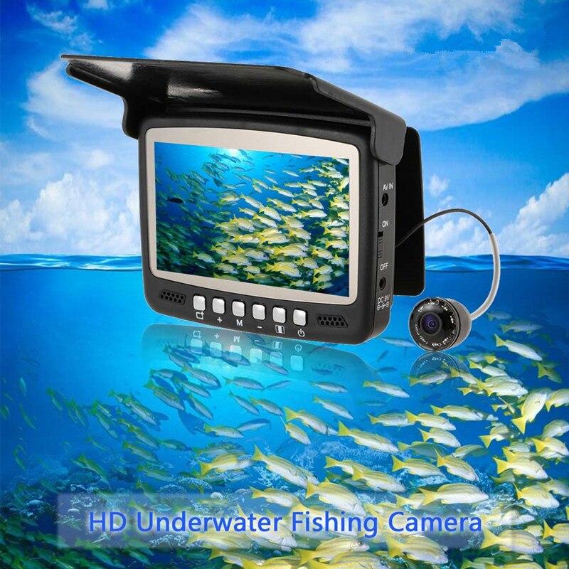 Fish Camera Fish Finder Underwater Ice Video Fishfinder Fishing Camera IR Night Vision 4.3 Inch Monitor Camera HD 1000TVL fish finder video fish finder hd 1000tvl - title=