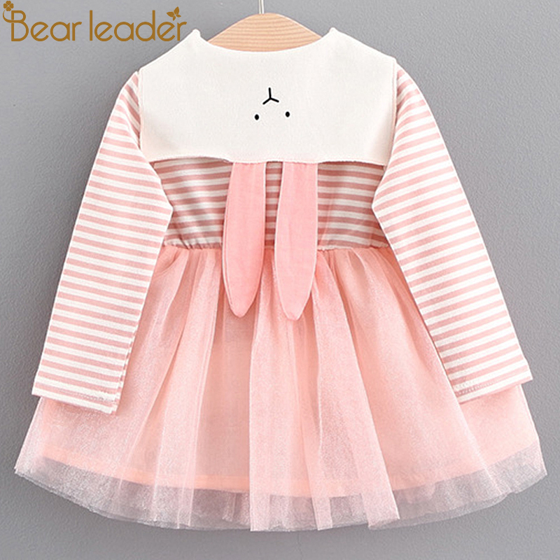 Bear Leader Girls Dress 2017 Autumn Brand Baby Girls Blouse Cute Rabbit Crew Neck Children Clothing Princess Dress For 6-24M компрессор fiac leader 24