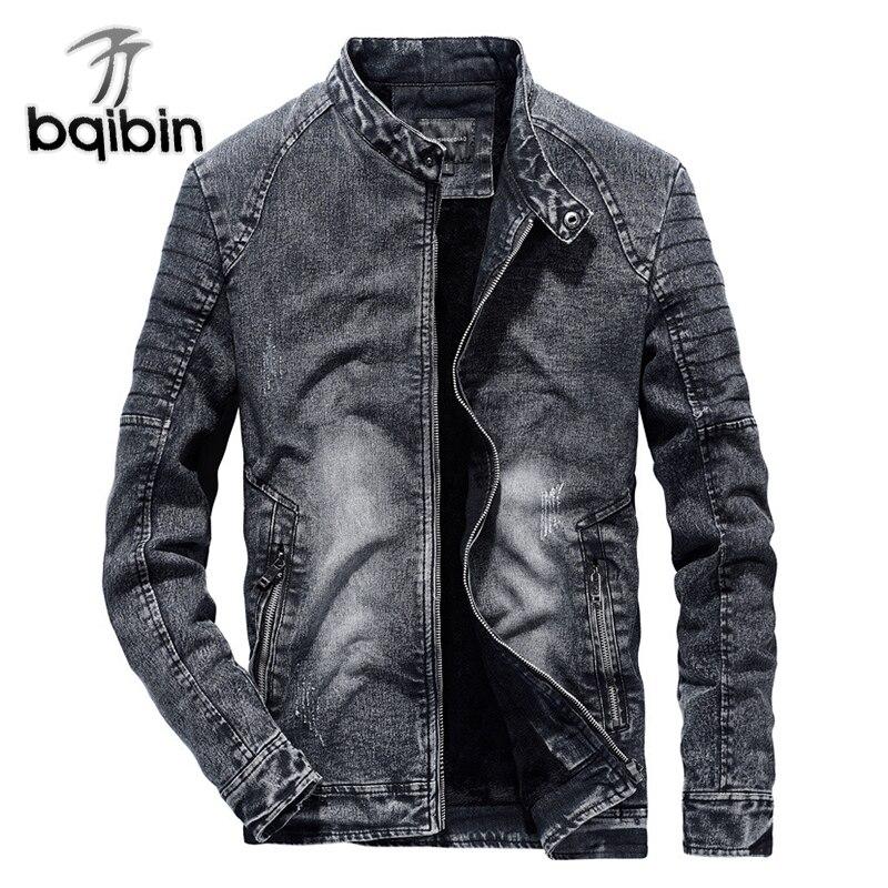 Vintage Denim vestes hommes Slim Fit couleur unie décontracté hommes Jeans manteau 2018 mode Vintage vêtements pour hommes noir bleu