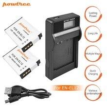 цена на 2X EN-EL12 ENEL12 EL12 Battery+Battery Charger LCD for Nikon Coolpix S9700 S9500 S9400 S9300 S9100 S8200 S8100 S8000 S6300 L15