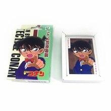 54 листа/уп наклейки для ногтей комплект Аниме Детектив Конан покер карты Косплэй карточки для настольных игр Почтовые открытки вентиляторы подарок