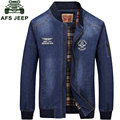 2017 New List Autumn Brand Clothing Men Denim Jacket BLUE Jean Fashion M~3XL Overcoat Casual Jacket Coats CLOTHES Long Sleeve