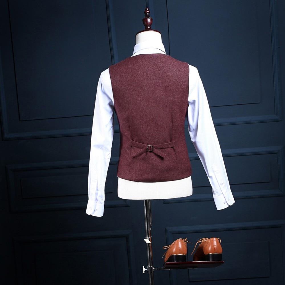 2017 trajes para hombre Groomsman Groom Tuxedos por encargo El mejor - Ropa de hombre - foto 4