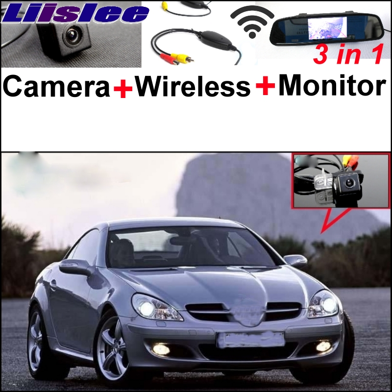 Liislee Special WiFi Camera + Wireless Receiver + Mirror Monitor Rear View Parking System 3 in 1 For Mercedes Benz MB SLK R171 liislee 3in1 special camera wireless receiver mirror screen diy rear view parking system for mercedes benz mb b class w245