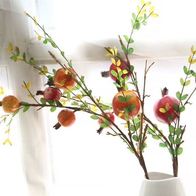 CAMMITEVER Orange Red Pomegranate Fruit Vegetable Small Cherry ...