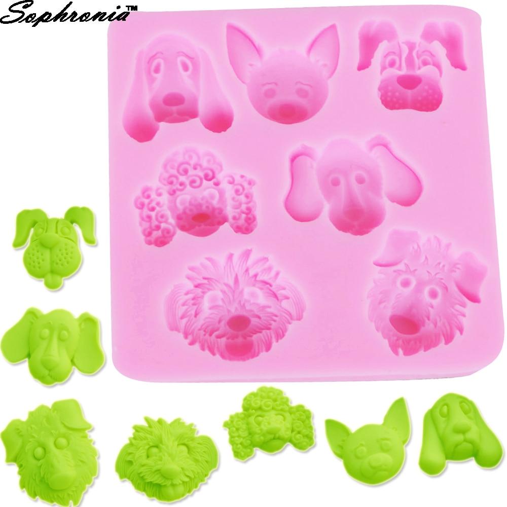 Sophronia 3D Dog Shape Silicone Mold Baking Fondant Cake Decorating Tools  Candy Mold Chocolate Cake Moulds M141