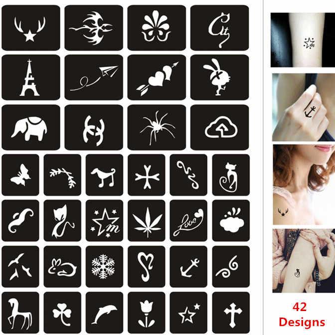 42 Designs Airbrush Body Stencils Small Horse Cat Butterfly Pattern Henna Tattoo Stencils Body Art Glitter Tattoo Stencil Airbrush Body Stencils Tattoo Stencilstencils Small Aliexpress