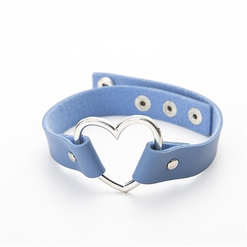 Trendy Choker Sexy Punk Gothic PU Leather Heart Necklace15