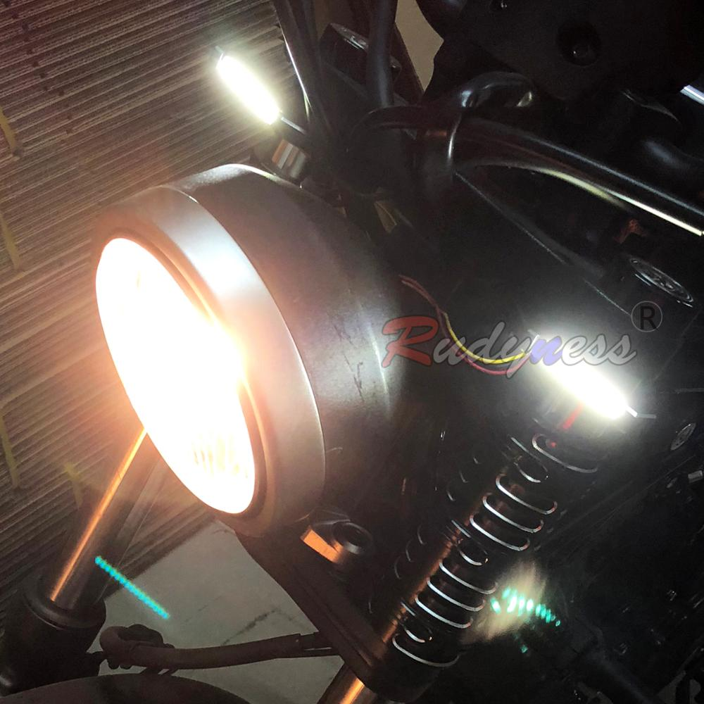 LED Fork Amber Turn Signal Running Light Kits Fit For Rebel CMX 300 500 ABS