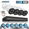 ANNKE  4CH 1080P HD-CVI 5.0MP CCTV DVR with 2MP Cameras Video WDR Outdoor Home Security Camera System