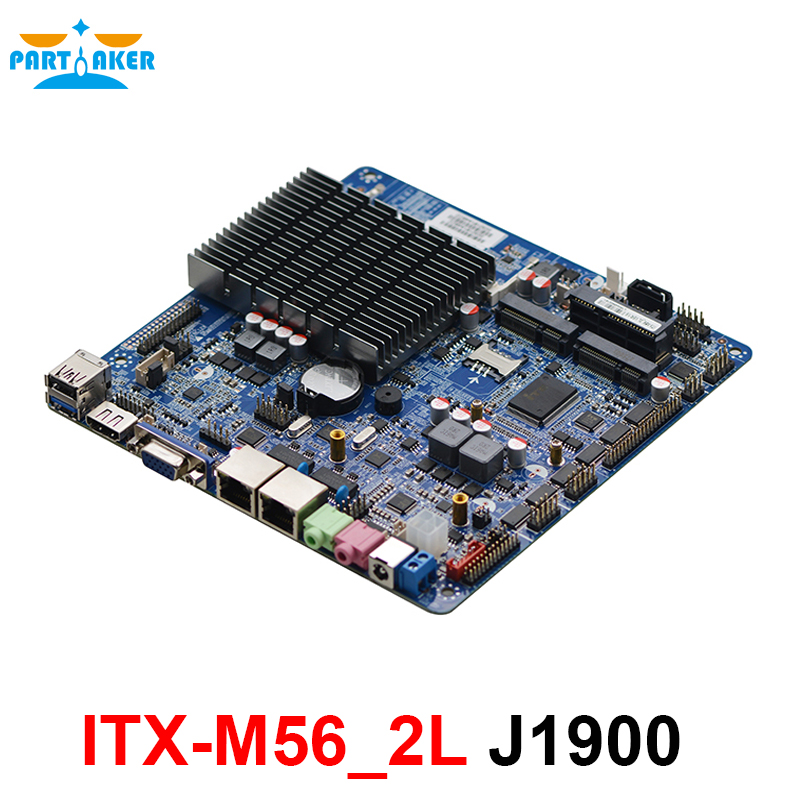 Dual Ethernet AIO Embedded Motherboard ITX-M56_2L Intel Celeron J1900 2.0GHz Quad Core with LVDS for display все цены