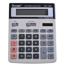 Guangbo Calculator Office&School Supplies Mathematics Solar Or Battery 145*200*60mm Gray Fast Calculadora NC-1200