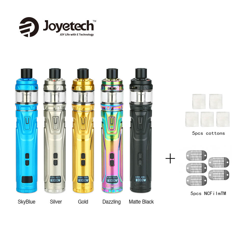 Brand New Joyetech ULTEX T80 with CUBISbis Ma Max Kit &  NCFilmTM Heater/Cotton for Cux 5pcs/pack Vape E-cigarette vs EGO AIOBrand New Joyetech ULTEX T80 with CUBISbis Ma Max Kit &  NCFilmTM Heater/Cotton for Cux 5pcs/pack Vape E-cigarette vs EGO AIO
