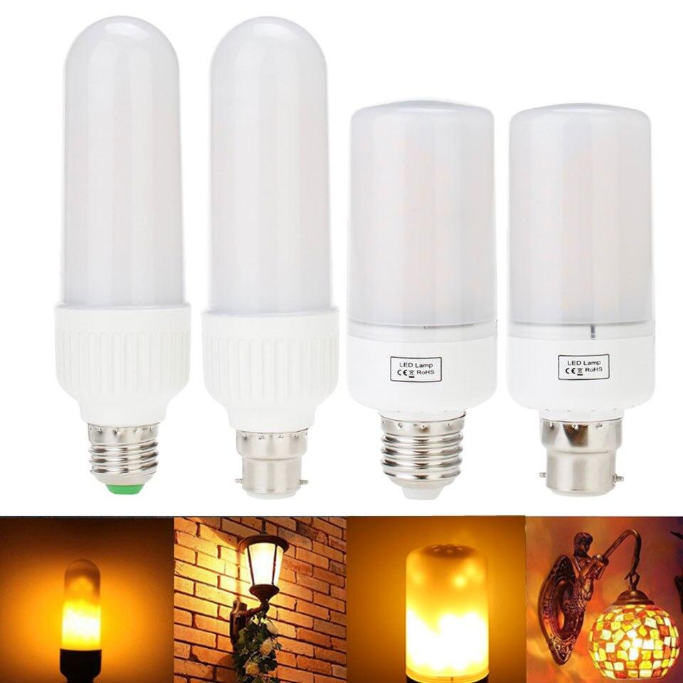 E27 E26 2835 LED Flame Effect Fire Light Bulb B22 E14 6W Creative Lights Flickering Emulation Vintage Atmosphere Decorative Lamp