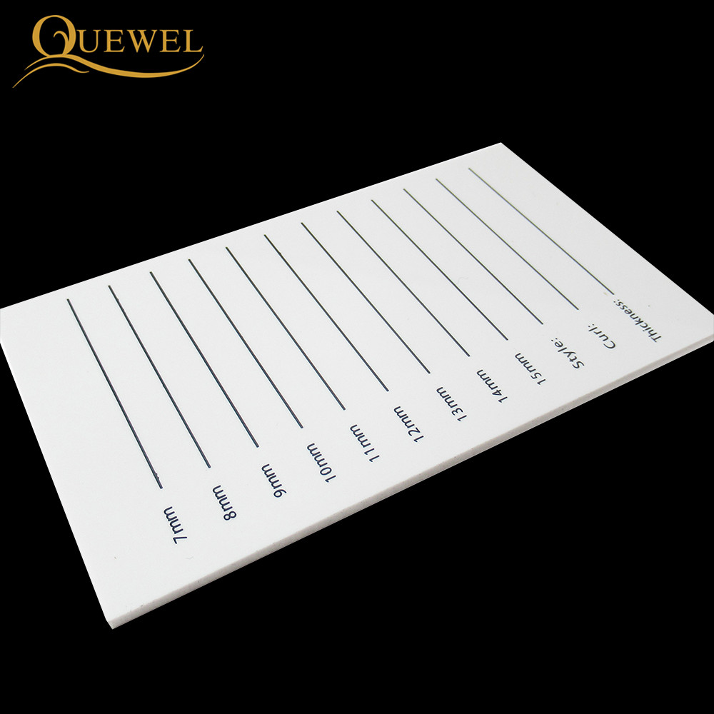 Image 4 - Eyelash Acrylic Lash Pallet Individual Eyelash Tile Palette Adhesive Glue Ceramic 5 Pieces Holder New Eyelash Extensions Tools-in False Eyelashes from Beauty & Health