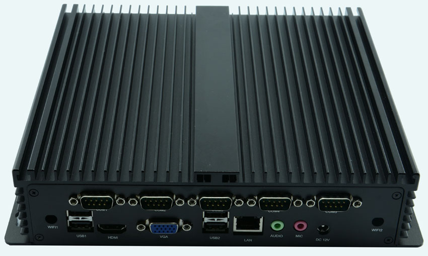 Industrial Business Implant Style Mini PC Computer 30gb 60gb 120gb 256GB SSD 1037u J1900 I3 I5 With Wifi HDMI VGA 6*port Com