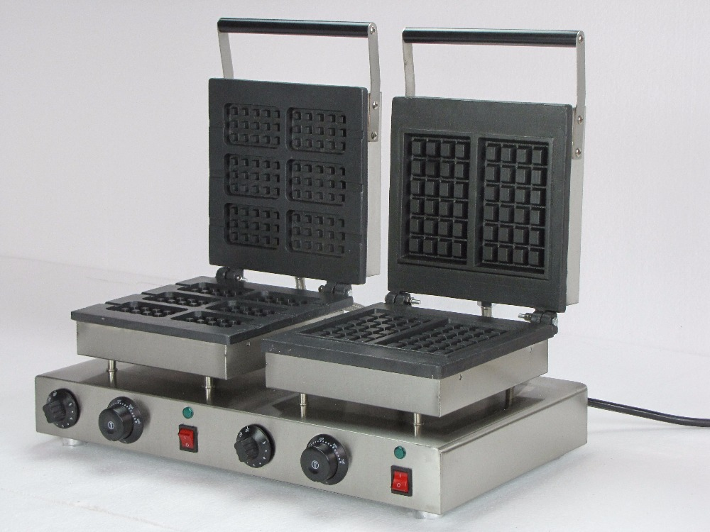220V electric  double waffle bakers iron waffle maker