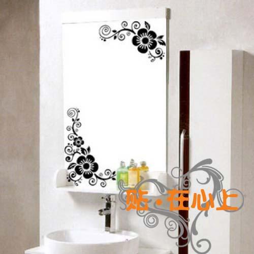 Commercio all 39 ingrosso ikea angolo fiore un paio di laciness specchio adesivi per piastrelle - Specchio adesivo ikea ...