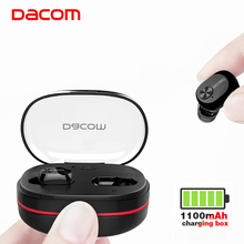 Dacom K6H TWS True Wireless Earbuds Earphones Mini Twins Headset Stereo Bluetooth Earphone Wireless Headphones with 1100mAh Box