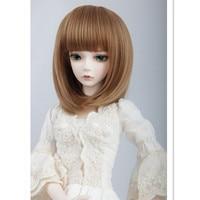 1/4 BJD Dolls Wig Short Hair Accessories for BJD Dolls,2 Colors High-temperature Wire Fashion Short Cut Cute Quality Doll Hair