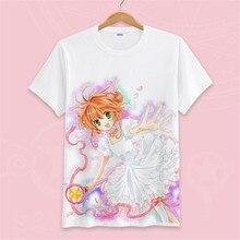 Tarjeta captor Sakura camiseta tarjeta Captor T camisa de los hombres Anime  camiseta Kawaii Mujer Tops camisetas de ropa de algo. 5ca3ae6c112a