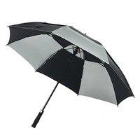Long Handle umbrella automatic Large Umbrella Golf Rain Umbrella Windproof Double layer Auto open Long handle Umbrella 50RR74