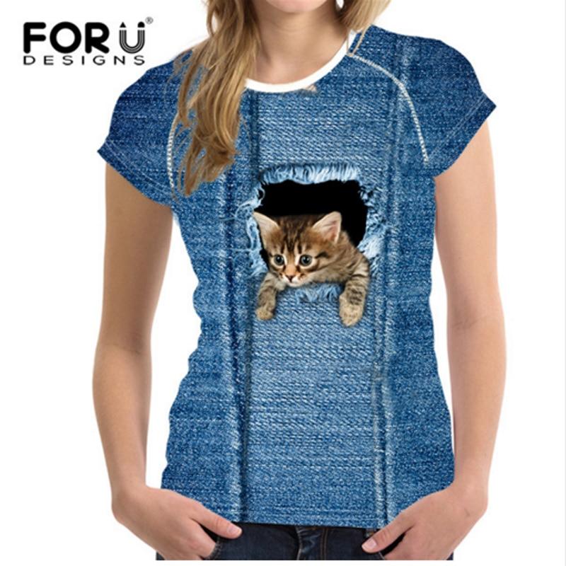 FORUDESIGNS Slatka 3D majica sa trapericama za žene, ženske - Ženska odjeća