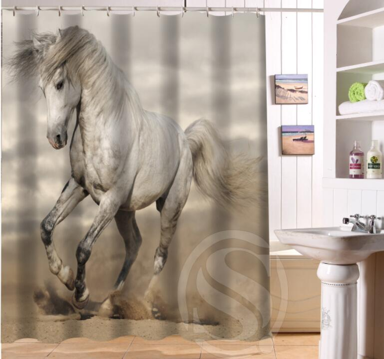 online get cheap horse shower curtain