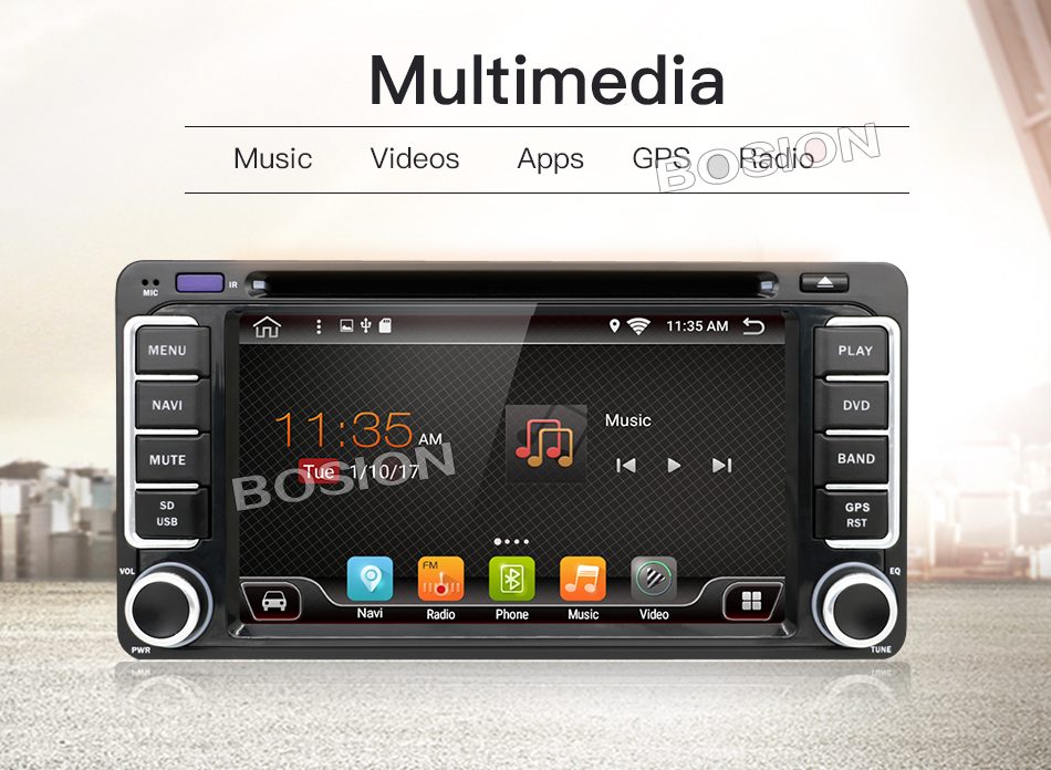 Android 6.0 car dvd player for Toyota Hilux VIOS Old Camry Prado RAV4 Prado 2003 2004 2005 2006 Quad Core