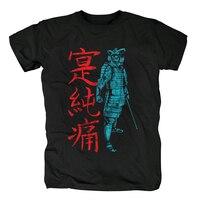 Bloodhoof 2018 Summer dress JANPAN bushido Samurai men t shirts short sleeve T shirt male fashion tops tee Asian Size