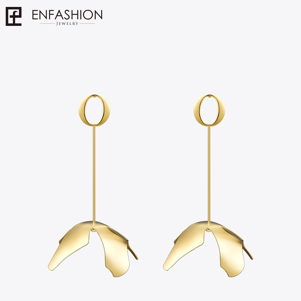 Enfashion Long Large Flower Dangle Earrings Rose Gold color Earings Drop Earrings For Women Long Earring Jewelry brinco инсталляция 4в1 grohe rapid sl 38775001 для подвесного унитаза