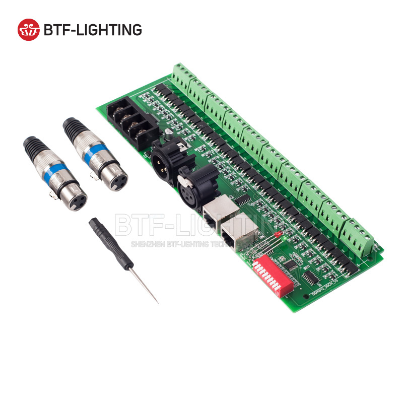 30 channel DMX 512 rgb LED strip controller dmx decoder dimmer driver DC9V-24V fast shipping 3pcs 24ch dmx512 controller decoder ws24luled 24 channel 8groups rgb output dc5v 24v for led strip light module