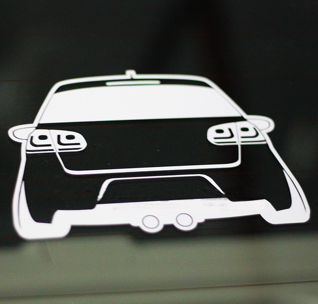 Xgs decal car decals dub funny small car low tail 15cm x 11cm vinyl reflective waterproof