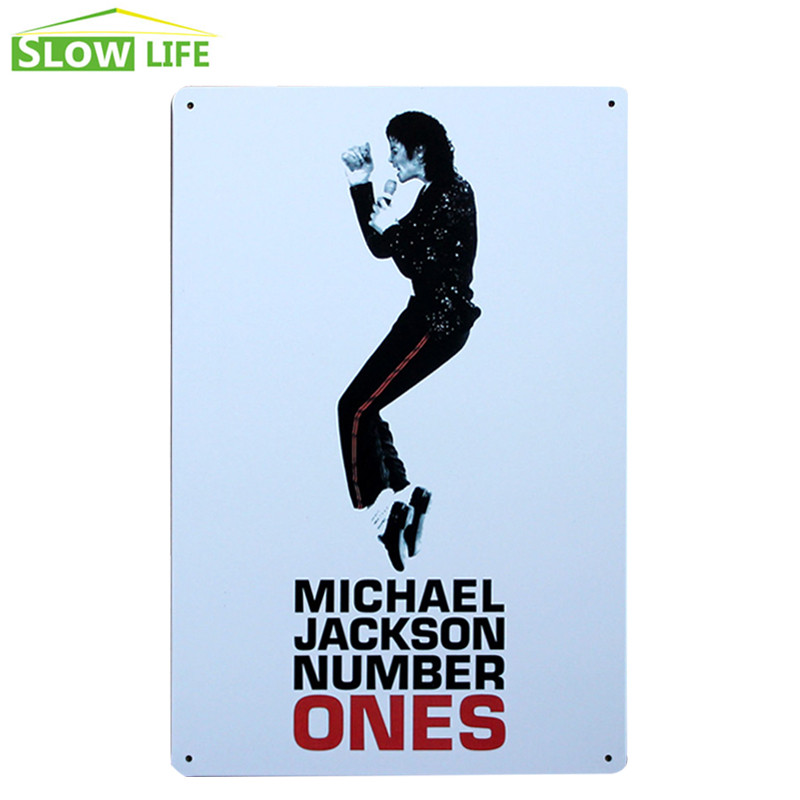 Number Ones Michael Jackson Metal Tin Sign Wall Decor Tin Sign Vintage Home Decor Metal Plaque Metal Plate Retro Metal Poster