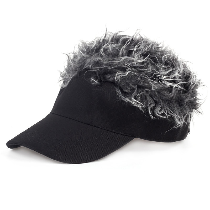 0c6abc72a87 Men Women Golf Cap Baseball Cap Outdoor Sports Fake Flair Hair Sun Visor Hat-in  Golf Caps from Sports   Entertainment on Aliexpress.com