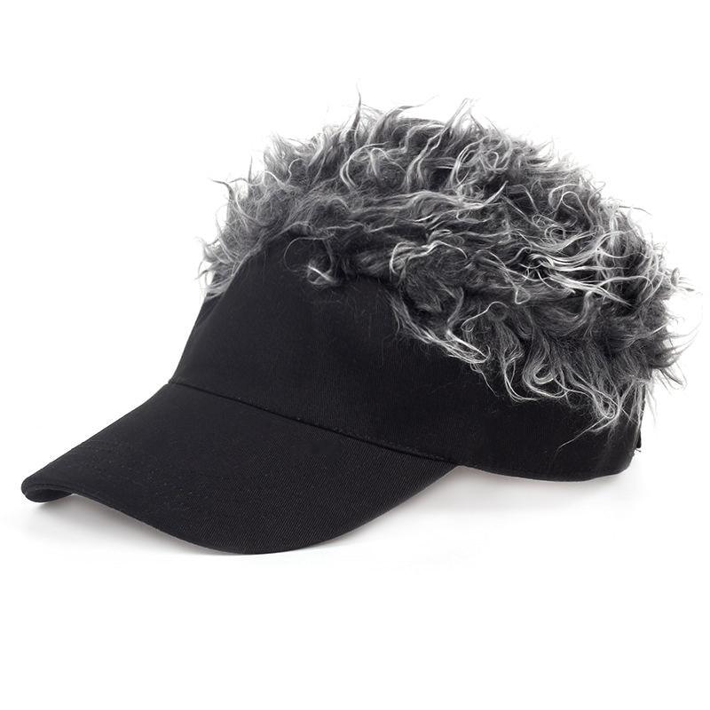 Men Women Golf Cap Baseball Cap Outdoor Sports Fake Flair Hair Sun Visor Hat-in  Golf Caps from Sports   Entertainment on Aliexpress.com  c7eb2a17bdc8