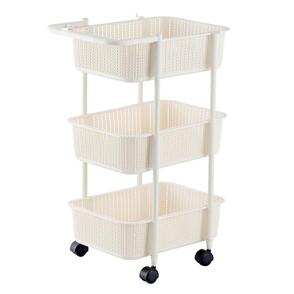 Многослойная корзина для хранения для кухни, ванной комнаты, пластиковая Съемная напольная стойка для овощей, корзина для хранения фруктов wx9031339 - 5