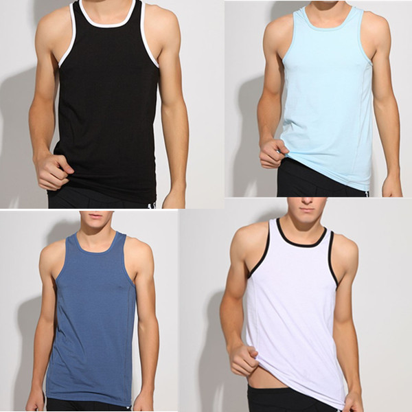 Superbody Men Tank Tops Tees Undershirts Cotton Polyester Quality Guarantee(size:M L XL) - Alice Men's Fashion store