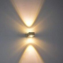 купить Indoor LED wall lamp 6W Wall mounted Aluminum sconce Living room bedside illumine Home decorate Modern LED wall light AC85-265V по цене 780.92 рублей