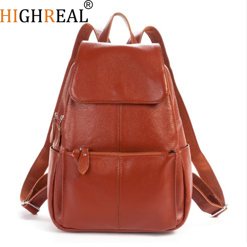 Women Backpacks Genuine Leather Famous Brand Ladies Backpack for Teenage Girls School Bags Fashion Mochilas Japan Korean Style цена