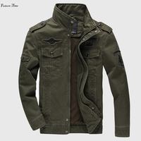 2018 Autumn Men Jacket M 6xl Washed jackets Stand collar Army green color casual Mens outwear Epaulet cool Slim jaqueta C1429