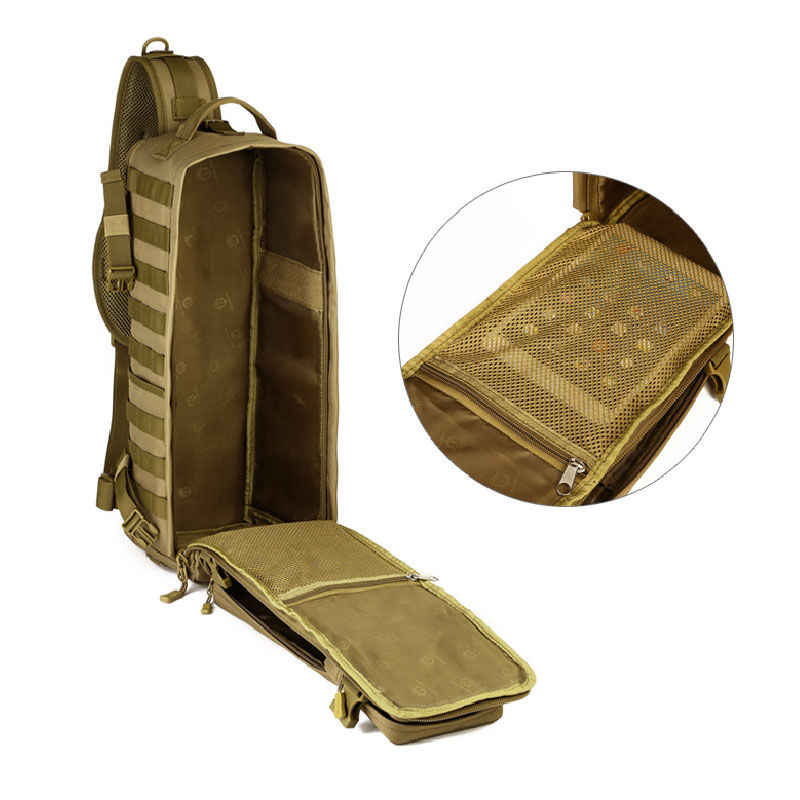 Pria Dada Sling Ransel Pria Satu Bahu Pria Besar Perjalanan Militer Ransel Cross Tubuh Tas Di Luar Ruangan Ransel Tas