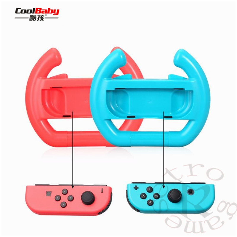 for nintend Switch Joy-Con Small Handle Steering Wheel game component video game controller TNS-852 Enhanced feel 4
