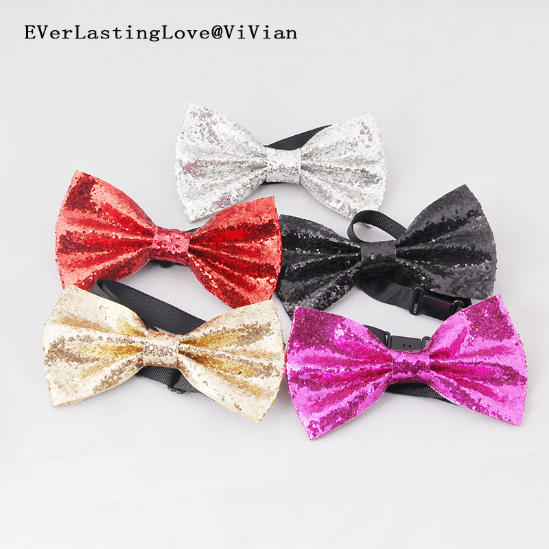 Shining Christmas Party Show Bow Tie Boys Girls Children Bow Tie Fashion Gold Sliver Red Men And Women Butterfly Bowtie Necktie