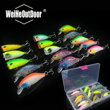 15Pcs Minnow and Popper set Plastic Bait Good Quality Fishing Hard Lure Multicolor Crank Bait Floating Fishing Tackle