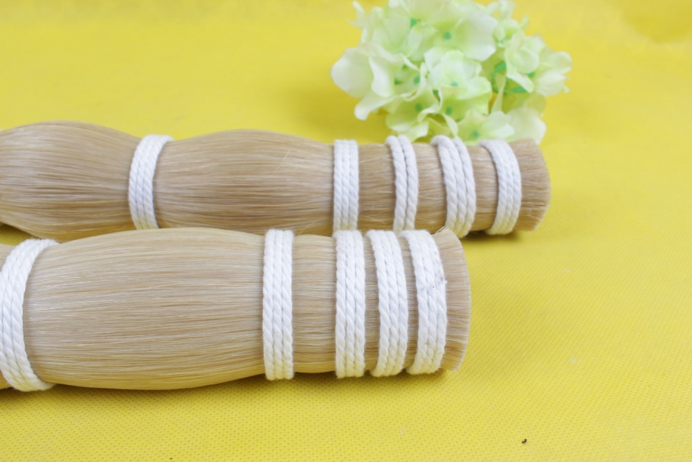 YINFENTE Violin bow hair White Mongolia natural horsetail High quality Violin accessories 80-85cm #2001YINFENTE Violin bow hair White Mongolia natural horsetail High quality Violin accessories 80-85cm #2001
