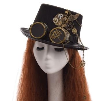 Шляпа в стиле стимпанк с очками в ассортименте вариант 4