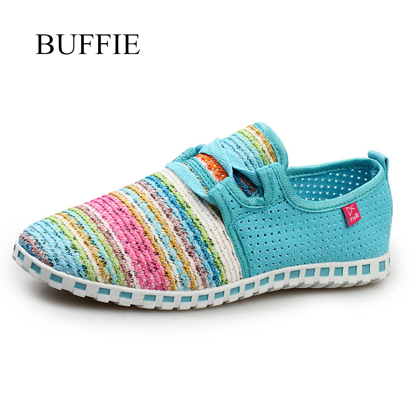 2018 Hot sale Summer Flat Shoes women Comortable Casual Lace-Up Flats Breathable Outdoor women Shoes Mesh Zapatillas sneakers new summer zapato women breathable mesh zapatillas shoes for women network soft casual shoes wild flats casual